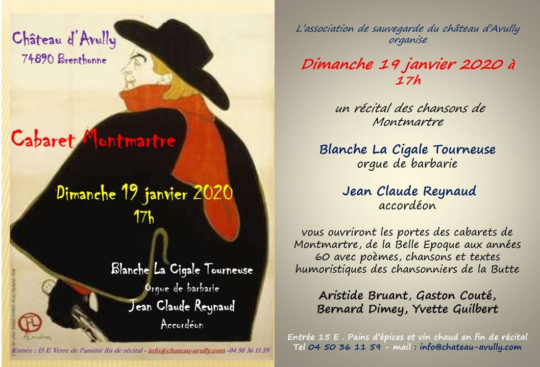 Chateau d'avully Cabaret dimanche 19