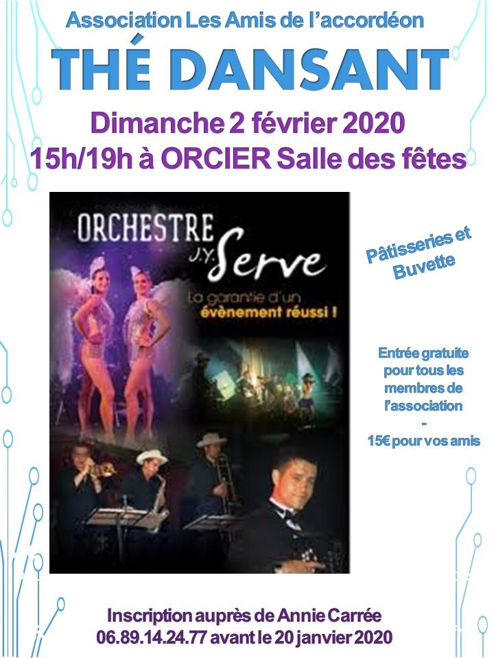 Thé dansant 2 fevrier 2020 Orcier